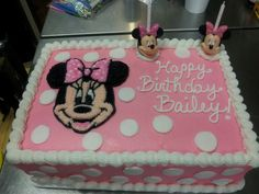 minnie mouse sheet cakes | Minnie Mouse