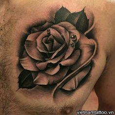 Rose Drawing Realistic Rose Tattoos For Men Tatoo Rose, Rose Drawing Tattoo, Single Rose Tattoos, Rose Tattoos For Men, Black Rose Tattoos, Tattoos For Guys, Tattoo Sketches, Tattoo Drawings, Neck Tattoos