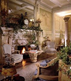 Luxurious traditional living room.
