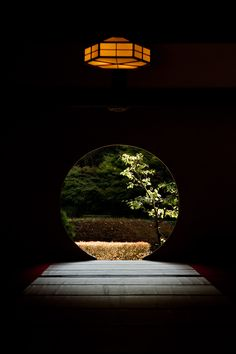 """Window of full moon"" by Genzo Toride | Meigetsu-in temple in Kita-Kamakura"