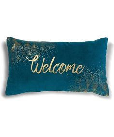 Another great find on #zulily! 'Welcome' Pillow #zulilyfinds