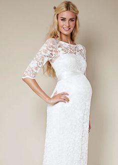 ivoire robe de marie femme enceinte dentelle marque tiffany rose 200 taille 36 - Coloration Pour Femme Enceinte