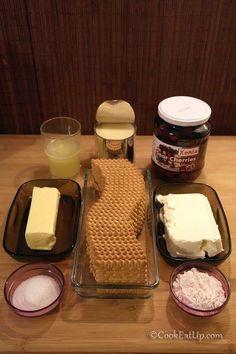 Τσίζκεϊκ με βύσσινα 4th Of July, Cheesecake, Dairy, Food And Drink, Cookies, Sweet, Pie, Crack Crackers, Candy