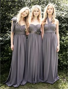 Jenny Yoo convertible bridesmaid dresses....this dress is different from the two birds and it comes in plum!