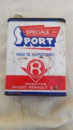 Bidon huile RENAULT Spéciale sport de surpuissance/2 litres/ancien garage. B180
