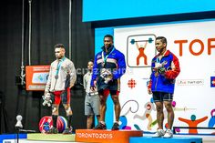 July 11 - Weightlifting - Men's 62 kg. Colombia's Francisco Antonio Mosquera Valencia won silver, Colombia's Oscar Figueroa Mosquera won gold and Venezuela's Jesus Lopez Sanchez won bronze.