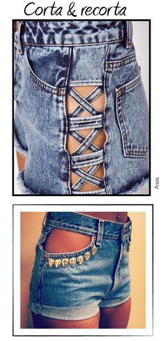 diy ropa Dare to DIY: 20 ideas para personalizar tus shorts Diy Shorts, Diy Jeans, Sewing Shorts, Diy Fashion, Trendy Fashion, Fashion Trends, Fashion Ideas, Fashion Shorts, Diy Pantalones Cortos