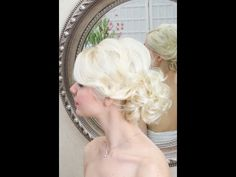 Wedding hair video - soft lowdo. This is great for short of fine thin hair!