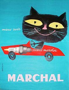 vintage cat ad Marchal