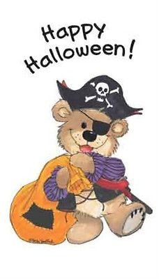 Suzy's Zoo Stickers Happy Halloween Pirate Bear 90103 | eBay