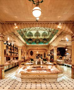 Harrods Food Hall - doulton tiles
