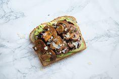 Sautéed Mushroom and Sundried Tomato Avocado Toast – Mushroom Council Mushroom Toast, Mushroom Dish, Mushroom Recipes, Mushroom Meals, Marinated Mushrooms, Roasted Mushrooms, Avocado Toast, Whats For Lunch, Simple