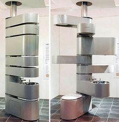 PanDizain: Ванная в стиле Hi-tech