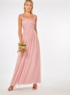 5bca8492e8e49 **Dusky Pink 'Esme' Maxi Dress | Dorothy Perkins Bridesmaid Dresses, Wedding