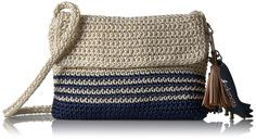 Sakroots Byron Crochet Flap Crossbody, Denim Cabana Str: Handbags: Amazon.com