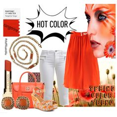 Hot Color Trend: Pantone Tangerine by stuff4uand4u on Polyvore featuring Orange Coral Vintage Givenchy Costume Jewelry. Visit Stuff4uand4u ebay store for that perfect accessory!