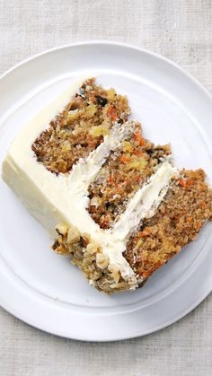 Carrot Cake- Recipe with video instructions: Who would've guessed pineapple, applesauce and carrots could be part of such a satisfyingly sweet dessert? Ingredients: For the carrot cake:, 3 cups all-purpose. Carrot Recipes, Cake Recipes, Dessert Recipes, Dessert Cups, Food Cakes, Cupcake Cakes, Cupcakes, Classic Carrot Cake Recipe, Ultimate Carrot Cake Recipe