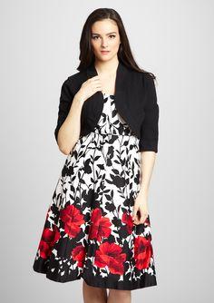 SUPER cute plus-size floral dress. Figure Flattering Dresses e52089408908