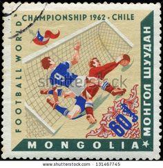 Mongolia Stamp - Football World Championship Chile 1962
