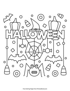 Candy Coloring Pages, Spider Coloring Page, Monster Coloring Pages, Unicorn Coloring Pages, Pumpkin Coloring Sheet, Halloween Pumpkin Coloring Pages, Halloween Coloring Sheets, Halloween Coloring Pictures, Dulceros Halloween