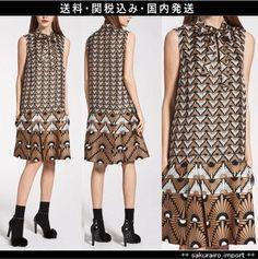 ★人気★Max Mara Studio 花アールデコ シルク シフトワンピースマックスマーラ スタジオ 2016ファッション