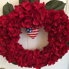 READY TO SHIP I Love America Wreath Red White and Blue