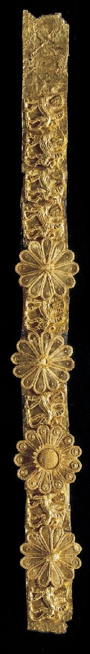 A gold diadem, Greece, ca 650 B.C.
