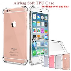 Super Anti-knock Drop-proof Case for iPhone 6 6S 7 for iPhone 6 6S7 Plus Soft TPU Transparent Clear Cover Full Protect