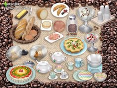Bringing for your sims 18 cafeteria themed decor items. Yummy and cute goodies to make your sim life sweeter ^^ by SIMcredibledesigns.com  Found in TSR Category 'Sims 4 Decorative Sets'