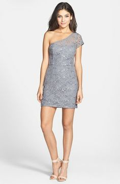 Hailey Logan One-Shoulder Lace Body-Con Dress (Juniors) | Nordstrom    #summerwedding