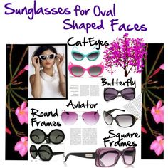 #Sunglasses for oval facial shapes: The oval-shaped face is the most symmetrical shape, making it the easiest shape to fit for sunglasses. Most frames will flatter an oval-shaped face, but remember to keep the style proportionate to the overall size of your face. Start with aviator, rectangular, or butterfly frames. #fashion