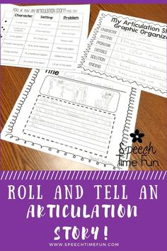 Roll and Tell An Articulation Story! Have fun working on articulation goals AND language goals with this fun and interactive activity. Just print, grab dice, and go! Students will love being creative with this activity!