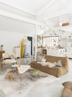 Living Area, Open Home in Biarritz via My Scandinavian Home | Remodelista