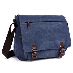 255bac7ddb Vintage Canvas Laptop Messenger Bag School Bag Business Briefcase 16 Inches