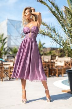 Available on www.bby.ro Strapless Dress Formal, Formal Dresses, Tea Length, Summer Collection, Fashion, Dresses For Formal, Midi Length Dresses, Moda, Formal Gowns