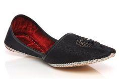 2a20ad2243e Unze Men Jamawar Embroidered Leather Slip On Wedding