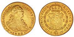 2 GOLD ESCUDOS/ORO. CHARLES IV SEVILLE-CARLOS IV SEVILLA.1800. XF/EBC. ATRACTIVA