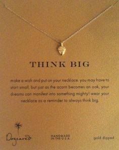 This is the Elon Way     Dogeared Necklace - Gold Acorn