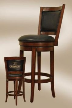 Guinness Bar Stool with Backrest Montreal, Quebec-Ottawa, Ontario-Rive Sud