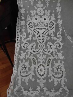 French Net Embroidered Tambour Lace Panel Curtain