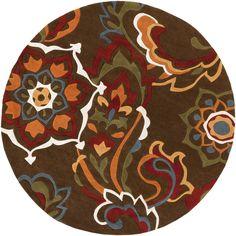 Surya COS9056 Cosmopolitan Brown Round Area Rug