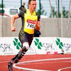 The Blade Runner, Oscar Pistorius. The debate goes on... I really hope he gets to run. (Scientists debate whether prosthetic legs give Pistorius an unfair advantage in the 400-meter race)