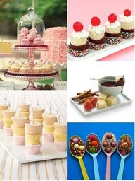 Bridal Shower Food, Desserts, and Cocktails   Calligraphy by Jennifer