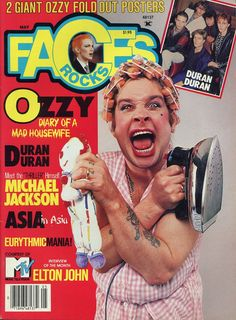 Ozzy on the cover of Faces Magazine May 1984