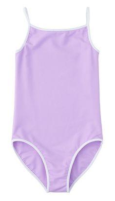 Girls lavender swim suit