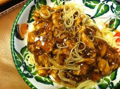 Dan Dan Noodles (Pf Chang Style) Used half of the brown sugar and half of siracha sauce. Added some cooking wine.