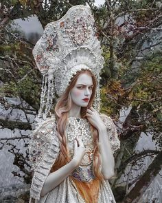magda andruszkiewicz model in costume made by in my another one, fantasy portrait✨ Fantasy Photography, Beauty Photography, Fashion Photography, Fotografia Retro, Folklore, Foto Fantasy, Fantasy Portraits, Fairy Princesses, Fantasy Costumes