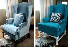 Cambia el color y estilo del tapizado de tus sillones con sólo utilizar pintura....