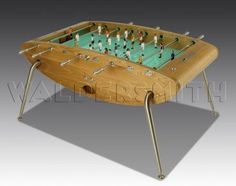 The Opus is the pinnacle of Football Table design. Its curved, smooth frame is hand crafted in etched glass and stainless steel, and the players are made of cast metal. Etched Glass, Glass Etching, Table Football, Perfect Gift For Him, Metal Casting, Eclectic Games, Poker Table, Game Room, Smooth