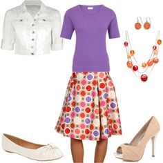 Love the fun colors - perfect for an elementary school teacher (who wants to go out later)